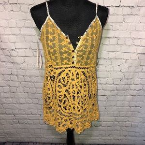 Lace and Crochet Tank Top